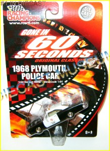 1968 68 Plymouth Police Cop Car Gone in 60 Seconds RC Diecast Very