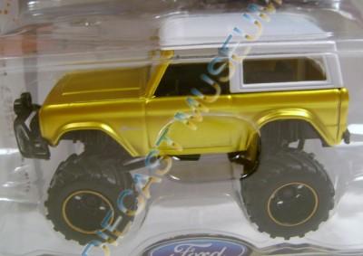 1973 '73 Ford Bronco Firestone SUV 4x4 Gold Bigtime 4 Wheelin Diecast Jada