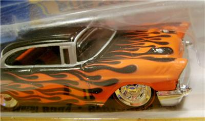 1957 '57 CHEVY CHEVROLET BEL AIR FLAMES 1:50 SCALE DIECAST ...
