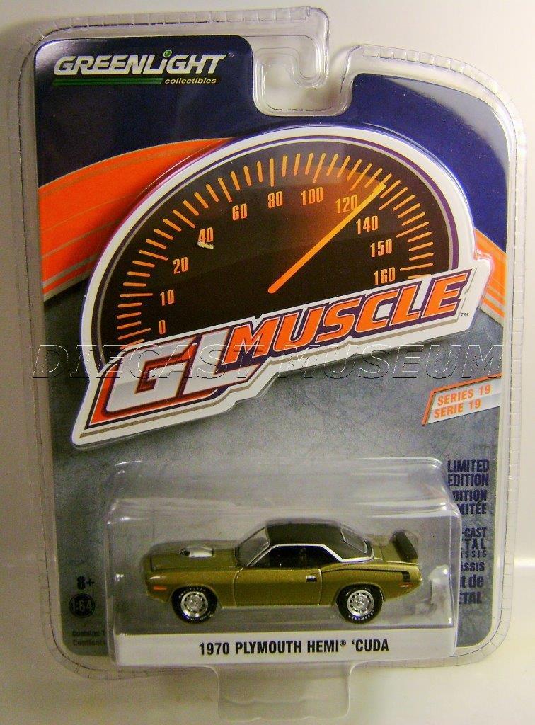 Greenlight MUSCLE  Series 19 1970 Plymouth Hemi Cuda gold