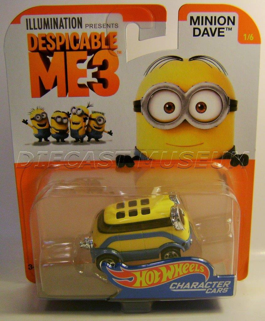 Minion Dave 1 6 Despicable Me 3 Character Cars Hot Wheels 2017