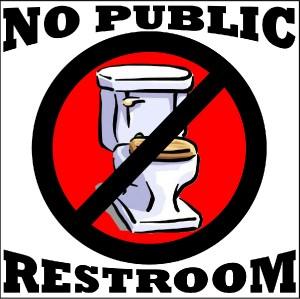 NO PUBLIC RESTROOMS BATHROOM VINYL DECAL SIGN