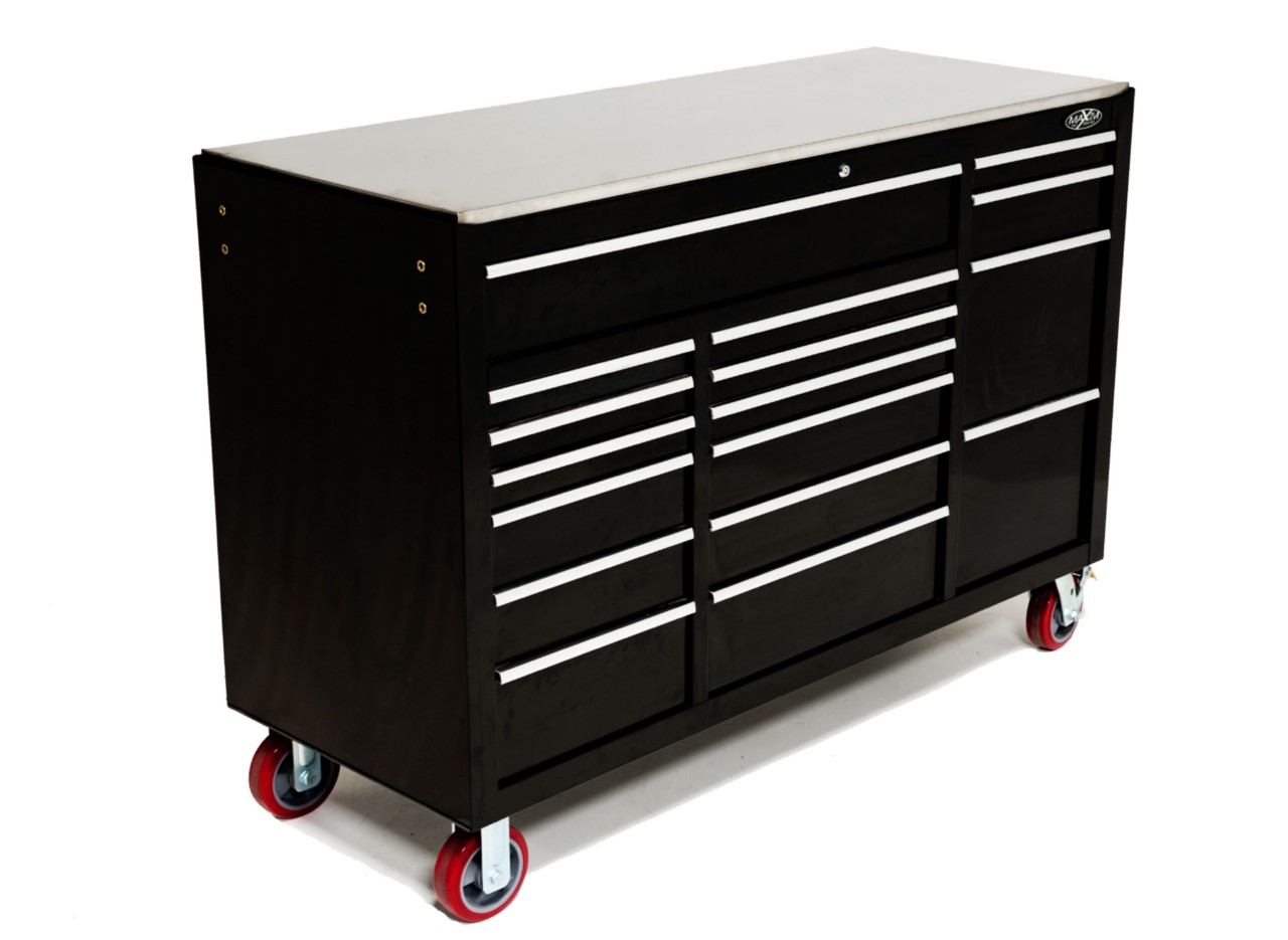 "MAXIM Huge 60"" Roll Cabinet 17 Drawer Toolbox Chest Tool"