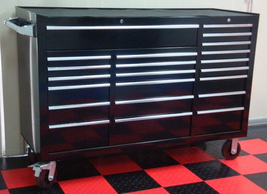 "Mechanics 8 Drawer Tool Box Chest Roller Cabinet: MAXIM Huge 60"" Black 22 Drawer Roll Cabinet Toolbox Tool"