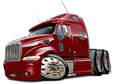 Peterbilt 587 Semi Truck Cartoon Tshirt NEW   eBay