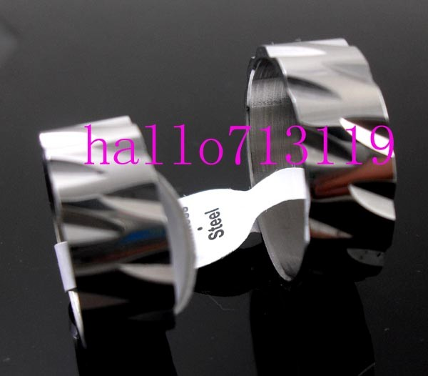 wholesale 50 laser cut gear mens stainless steel ring