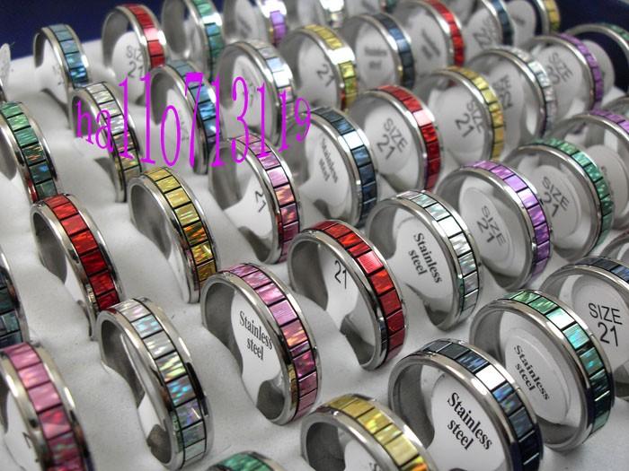 fashion lot Stainless steel RINGS WHOLESALE women men jewelry