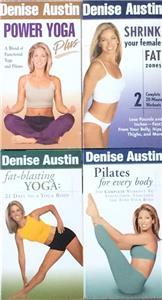 Denise Austin Fitness Workout Yoga Pilates Aerobics Lot 4 Vhs Ebay