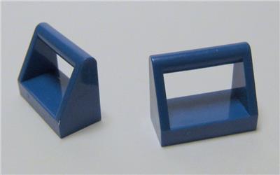 Flat Tile 1x2 Handle New New Blue, Blue 6 x lego 2432 Plate Handle