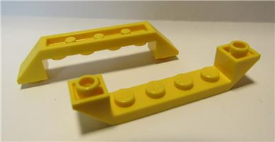 LEGO Lot of 4 Yellow 6x1 Double Inverted Slope Pieces