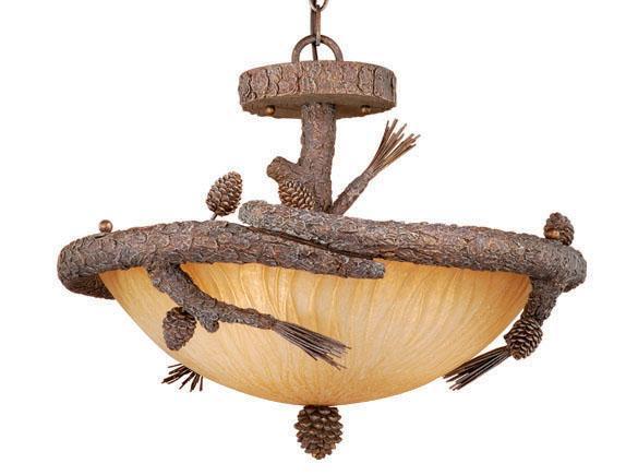 Semi Flush Ceiling Fixture Vaxcel Lighting Pine Tree Aspen 3 Light As Cfu220pt 884656600223 Ebay