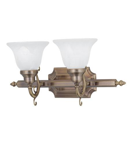 2l Livex French Regency Wall Sconce Vanity Bath Lighting Antique Brass 1282 01 Ebay