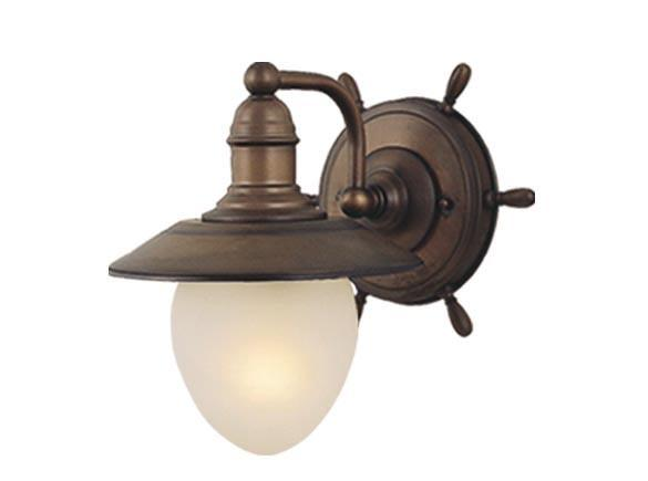 Orleans Nautical Wall Lighting Vaxcel Antique Country Red