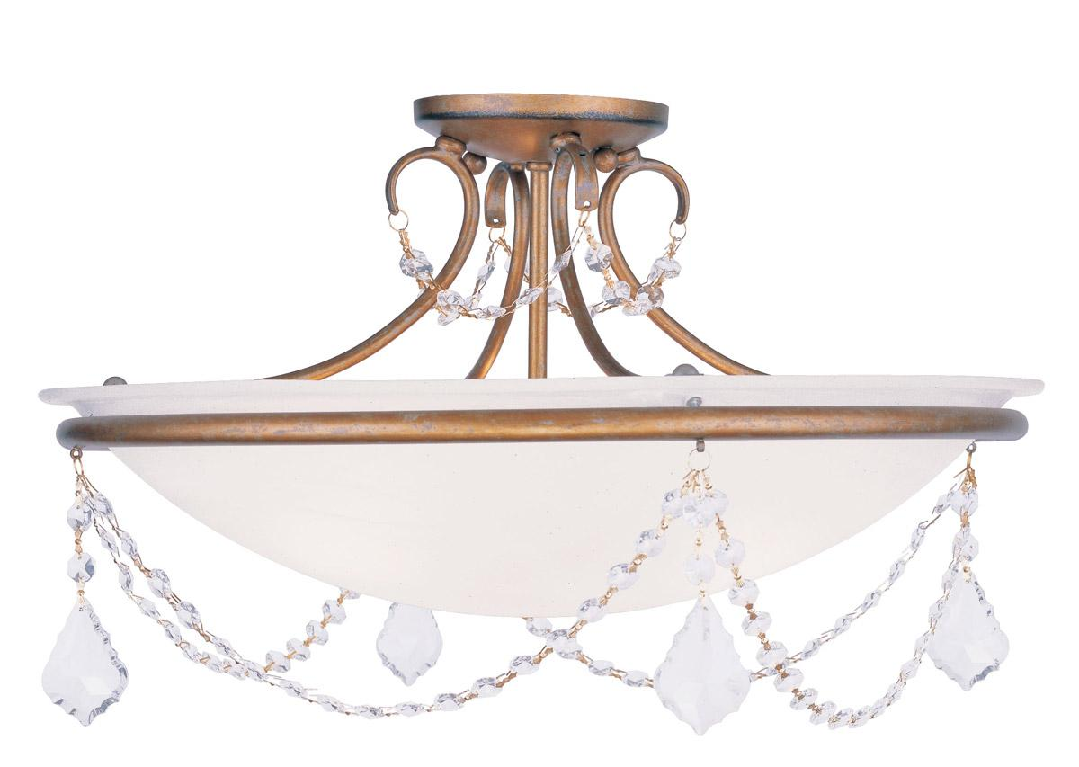 Livex 3 L Pennington Ceiling Mount Lighting Fixture