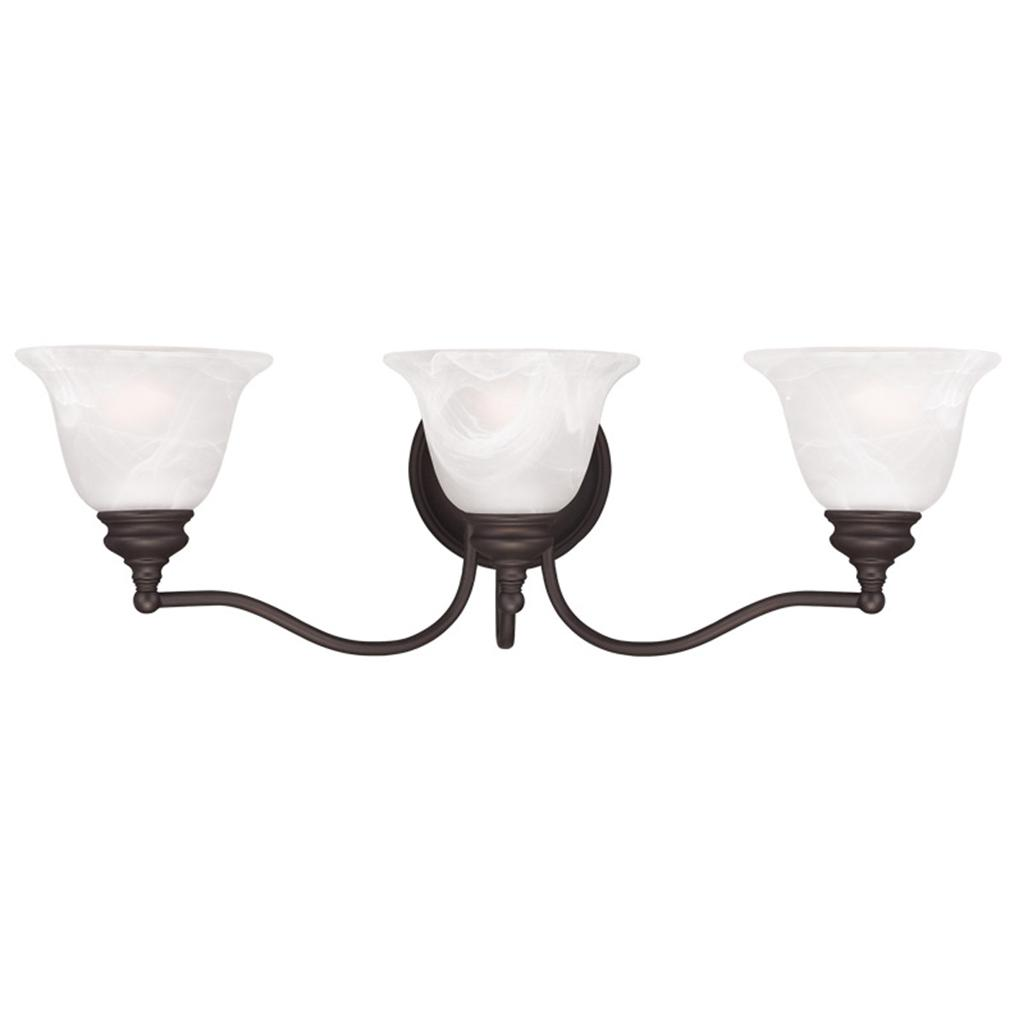 Essex 3 Light Livex Bronze Bathroom Vanity Lighting