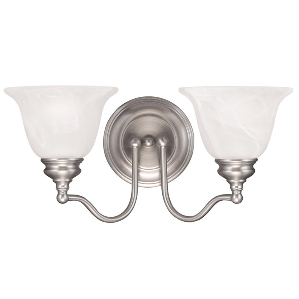 2 L Bathroom Vanity Livex Essex Brushed Nickel Lighting