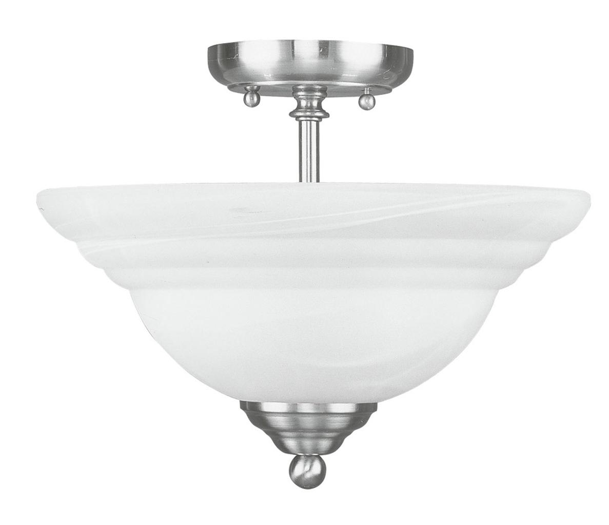 Livex Northport Brushed Nickel Semi Flush Mount Ceiling