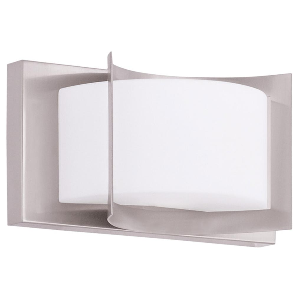 Discount Bathroom Lights: Livex Wave Brushed Nickel Bathroom Vanity Lighting Wall