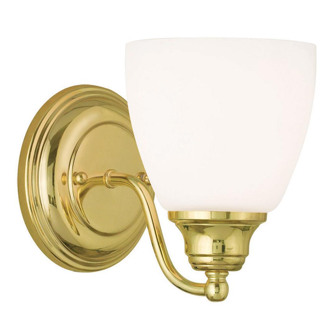 1 light livex somerville polished brass bathroom vanity - Polished brass bathroom lighting fixtures ...