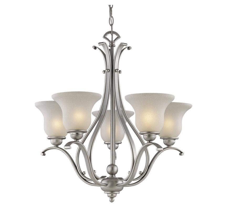 vaxcel 5 l brushed nickel monrovia chandelier lighting ceiling fixture ch35405bn. Black Bedroom Furniture Sets. Home Design Ideas