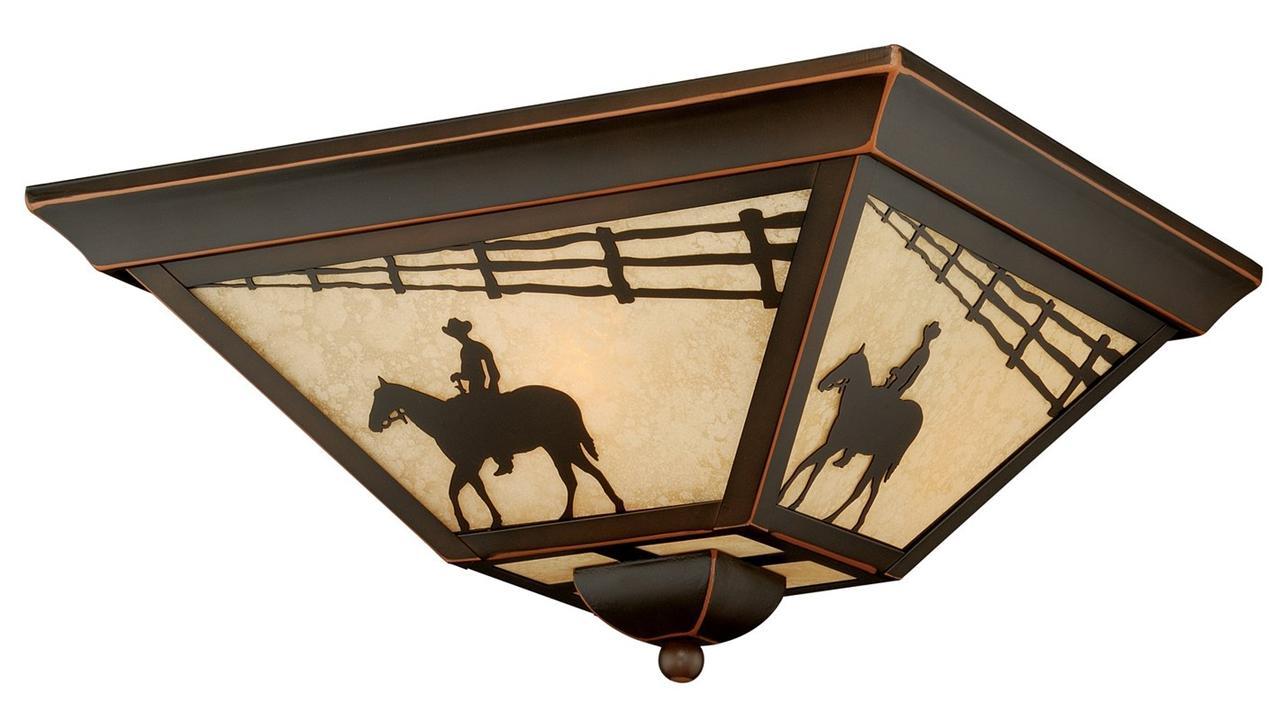 Trail Light Flush Mount Outdoor Ceiling Fixture Vaxcel