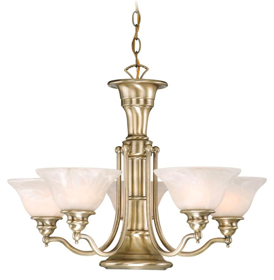 Standford 6 Light Vaxcel Antique Brass Chandelier Ceiling