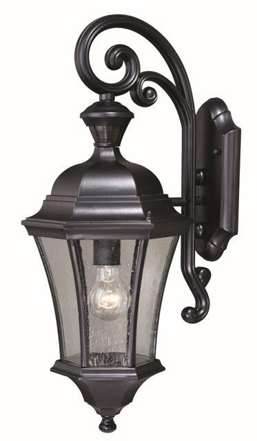 Details About Vaxcel 1 L Aberdeen Dualux Shiny Black Vintage Outdoor Wall Sconce Lamp T0320