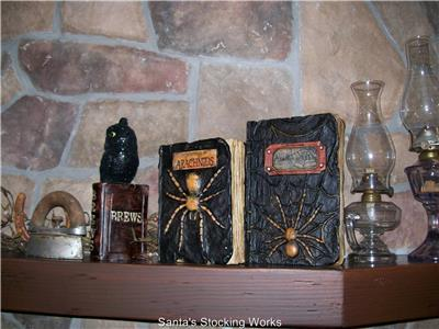 this is a new with tag raz imports 85 encyclopedia of arachnids witches spell book halloween prop table top decoration