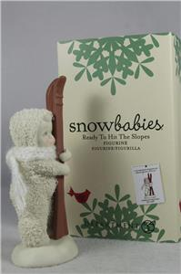 Dept 56 Snowbabies /'Ready To Hit The Slopes/' With Skis #4051914 New In Box!