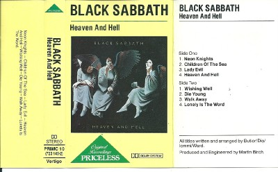 black sabbath heaven and hell cassette tape album ebay. Black Bedroom Furniture Sets. Home Design Ideas
