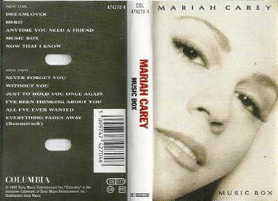 Mariah Carey Music Box Cassette Tape Album