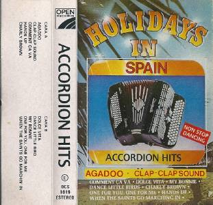 Accordion Hits Holidays In Spain Cassette Tape Album