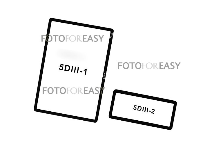 ggs optical glass rigid lcd screen protector for canon eos
