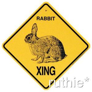 Rabbit Crossing Xing Sign New