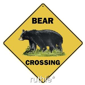"""16/"""" on diagonal 12/"""" on sides In//Outdoor BEAR /& CUB Silhouette Crossing Sign"""