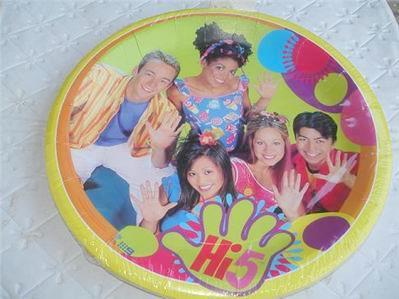 Hi 5 Hi5 Party Supplies Birthday Plates CAKE X6 Decoration