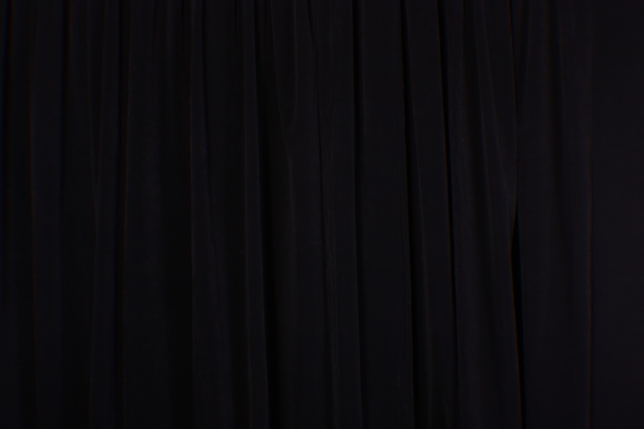 Black and white stage curtain - Curtain Panel