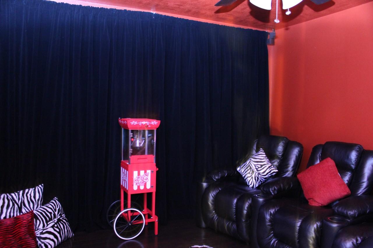 Custom Studio Stage Backdrop Drape Solid Black Velvet 13 Foot Curtain Long Panel