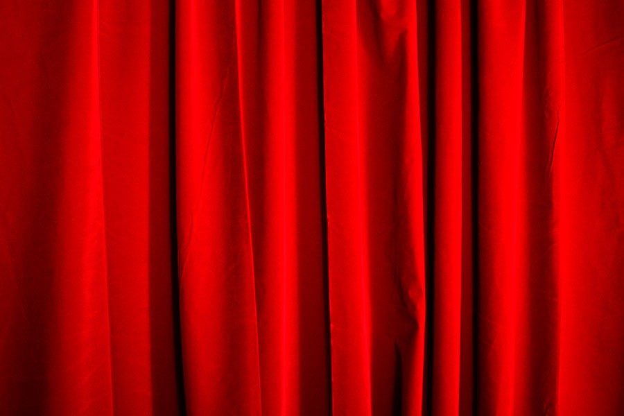 Extra Large Banquet Room Hall Wall Drapes Red Velvet 13 Ft