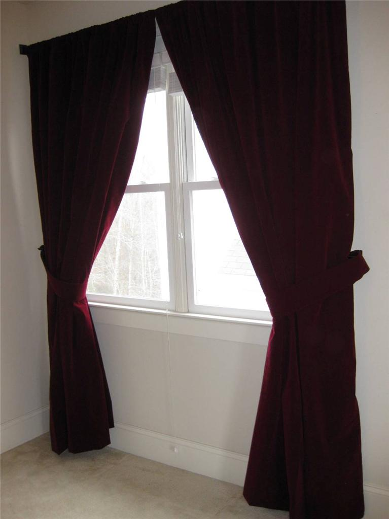 Custom Stage Theater Backdrop Drapes Burgundy Velvet 18 Ft