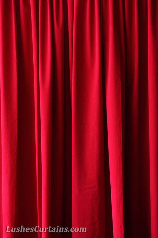 Wedding Special Event Backdrop Drapery Cherry Red Velvet 13ft Curtain Long Panel