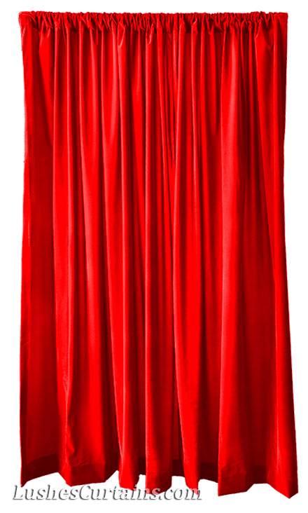 Custom Made Stage Theater Backdrop D Red Velvet 18 Ft Curtain Long Panel