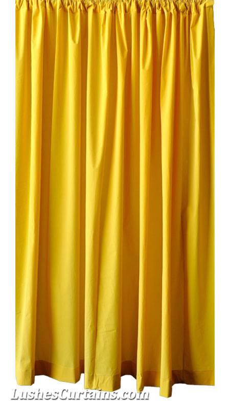 Custom 16 Ft High Bright Yellow Velvet Curtain Extra Long