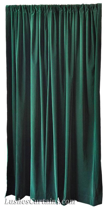 72 H Forest Green Velvet Curtain Panel W Rod Pocket Top Drape Window Treatments Ebay