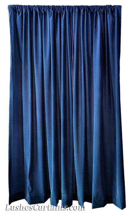 120 H Navy Blue Velvet Curtain Long Panel Drapery Church School Stage Drapes Ebay