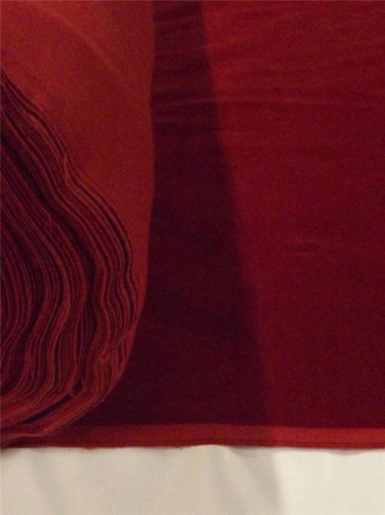 Burgundy Cotton Velvet Velour Fabric Upholstery Drapery