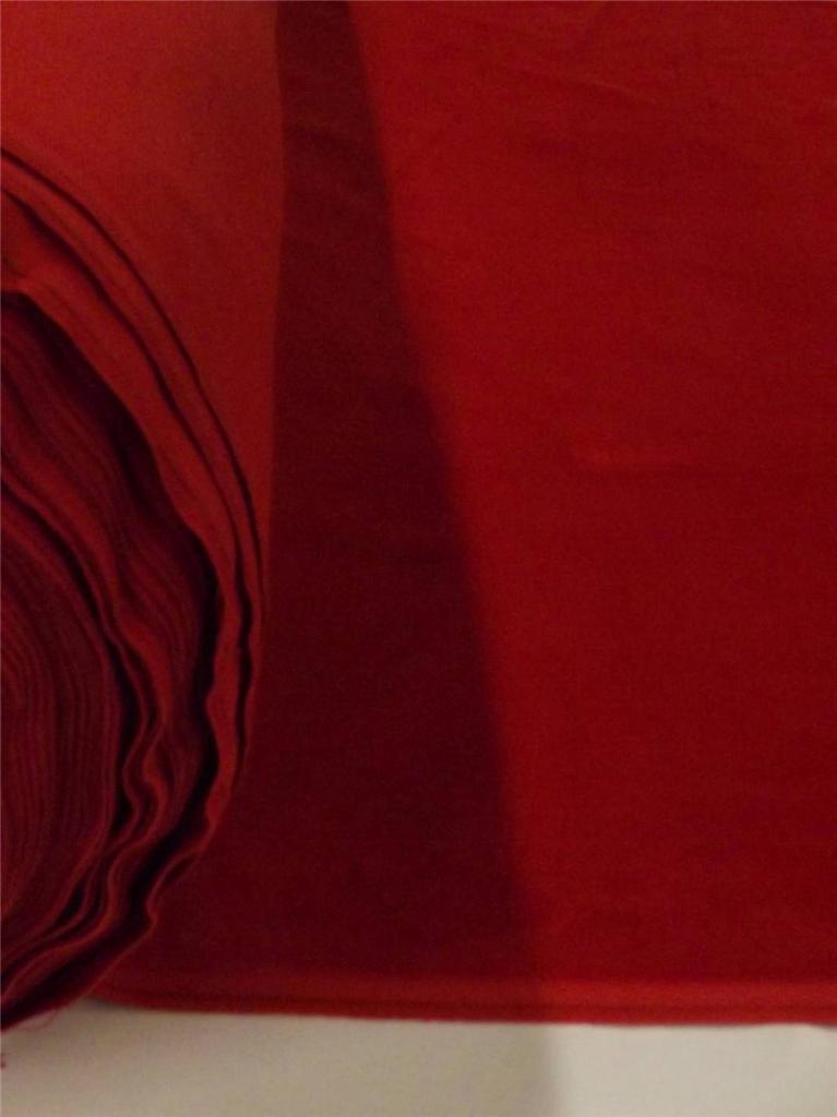 Red 100 Cotton Velvet Velour Fabric Upholstery Drapery