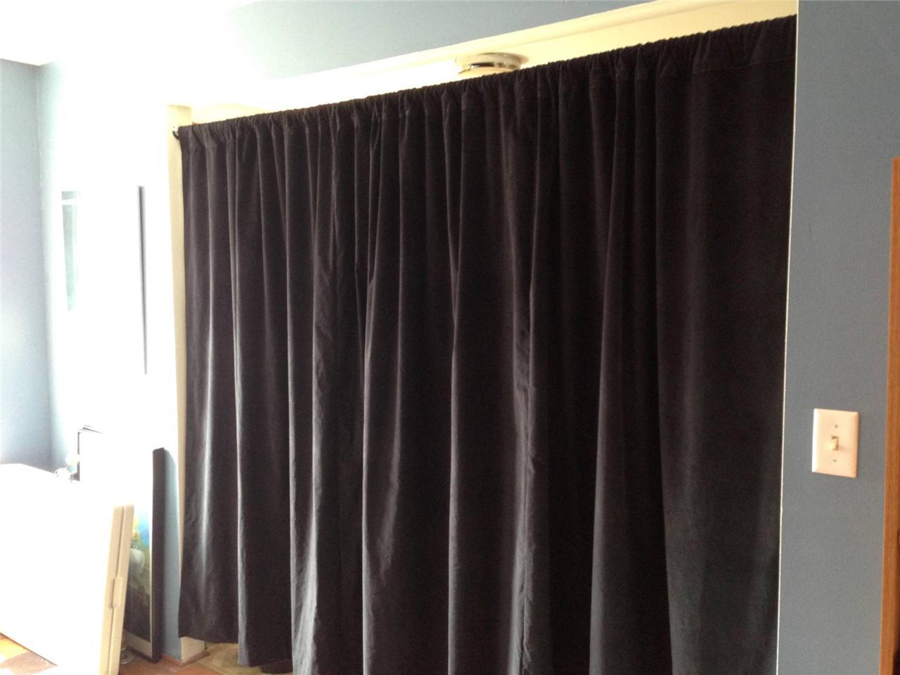 black long theater stage sound dampening drapes velvet. Black Bedroom Furniture Sets. Home Design Ideas