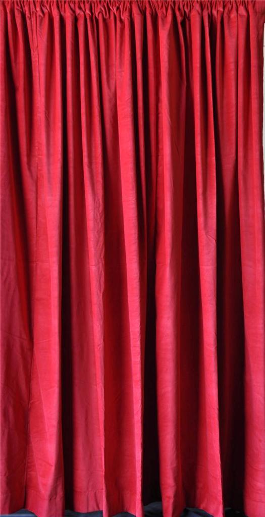 roter samt vorhang 335cm lange panel aufnahme studio theater klingen ebay. Black Bedroom Furniture Sets. Home Design Ideas