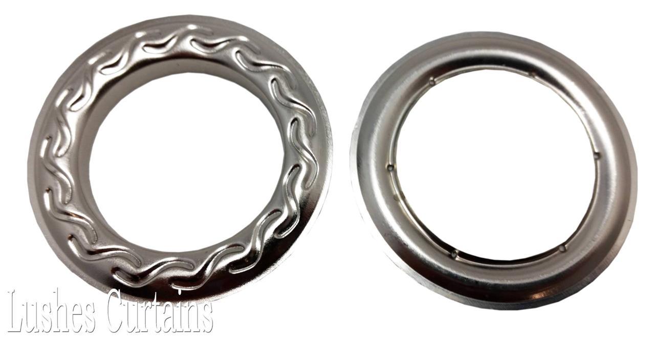 Curtain Panel Drapery Nickel 12 Metal Grommets 1 9 16